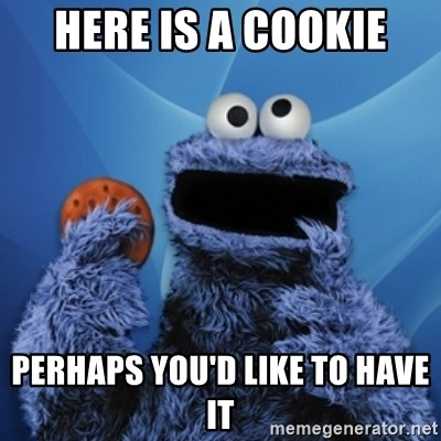 Cookie Monster Desktop - here is a cookie perhaps you'd like to have it