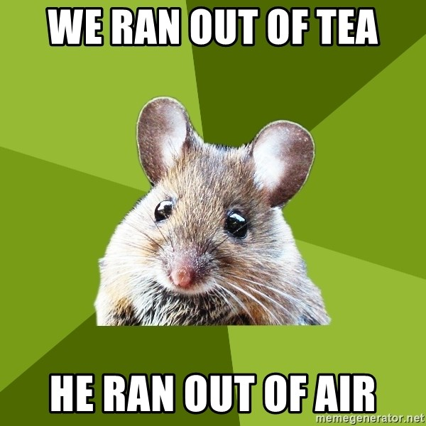 Prospective Museum Professional Mouse - WE RAN OUT OF TEA HE RAN OUT OF AIR