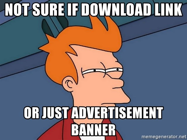 Futurama Fry - not sure if download link or just advertisement banner