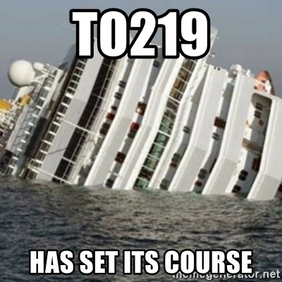 Sunk Cruise Ship - TO219 has set its course