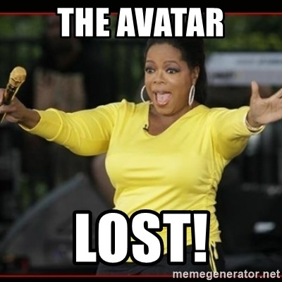 Overly-Excited Oprah!!!  - the avatar lost!