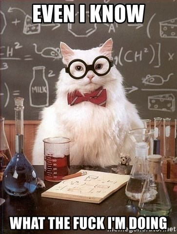 Chemist cat - even i know what the fuck i'm doing