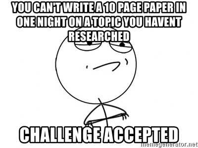 how to write a 10 page paper in one night