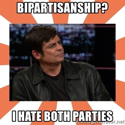 Gillespie Says No - Bipartisanship? I hate Both Parties