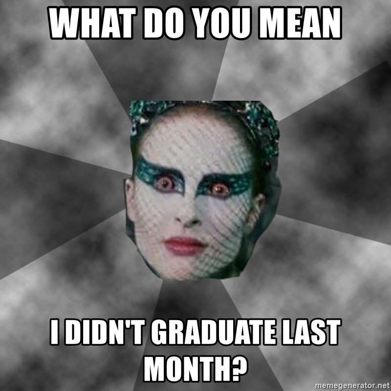 Black Swan Eyes - what do you mean i didn't graduate last month?