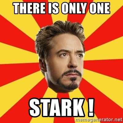 Leave it to Iron Man - There is only one  stark !