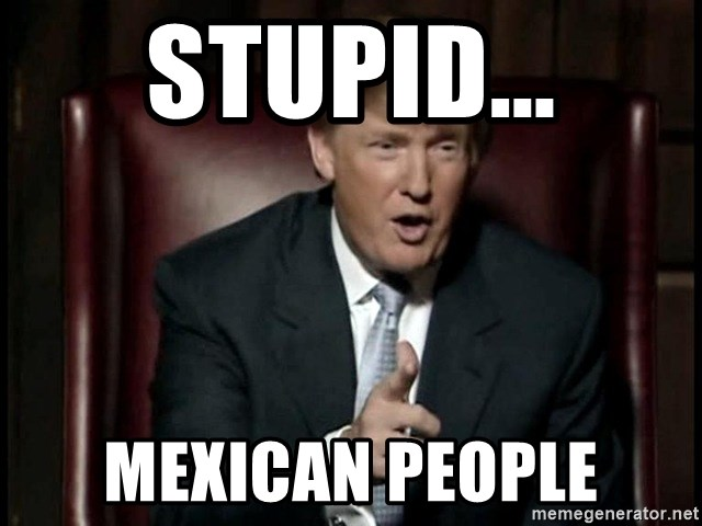 Donald Trump - Stupid... mexican people