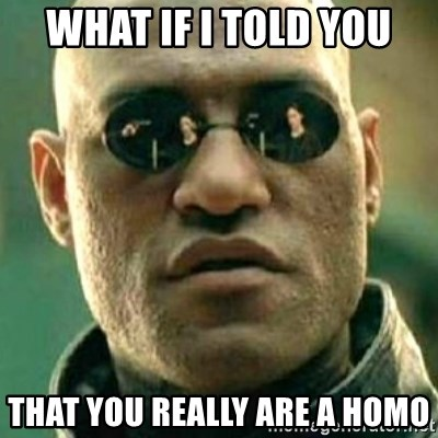 what if i told you matri - WHAT IF I TOLD YOU THAT YOU REALLY ARE A HOMO