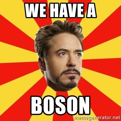 Leave it to Iron Man - WE HAVE A BOSON