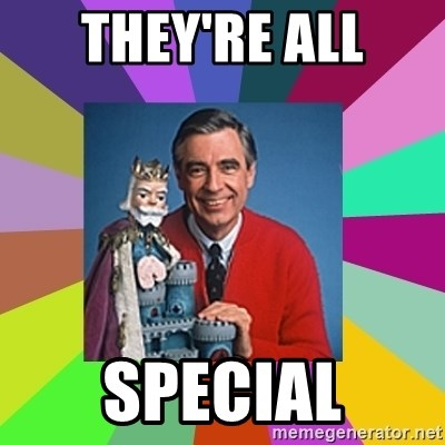 mr rogers  - They're All SPECIAL
