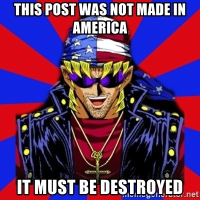 bandit keith - this post was not made in america  it must be destroyed