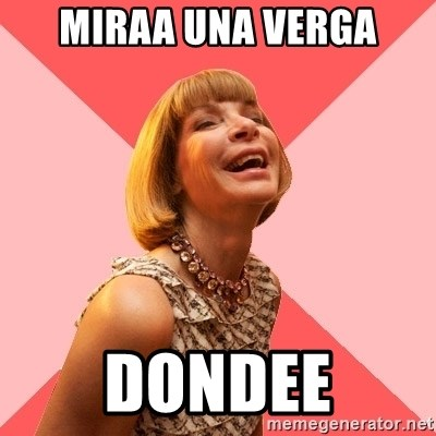 Amused Anna Wintour - miraa una verga dondee