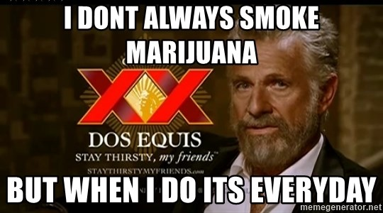 Dos Equis Man - I DONT ALWAYS SMOKE MARIJUANA BUT WHEN I DO ITS EVERYDAY