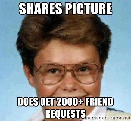 good luck larry hd - SHARES PICTURE DOES GET 2000+ FRIEND REQUESTS