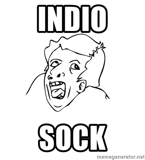 genius rage meme - indio sock