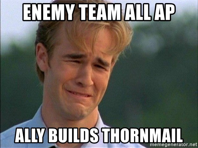 Dawson Crying - ENEMY TEAM ALL AP ALLY BUILDS THORNMAIL