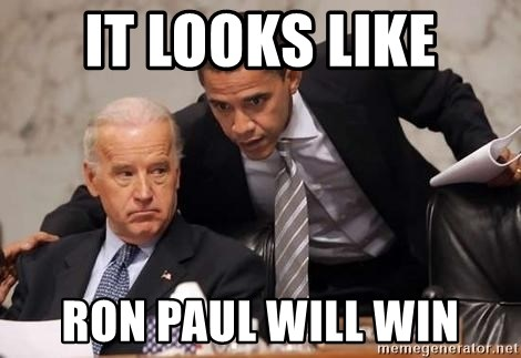 Obama Biden Concerned - it looks like ron paul will win