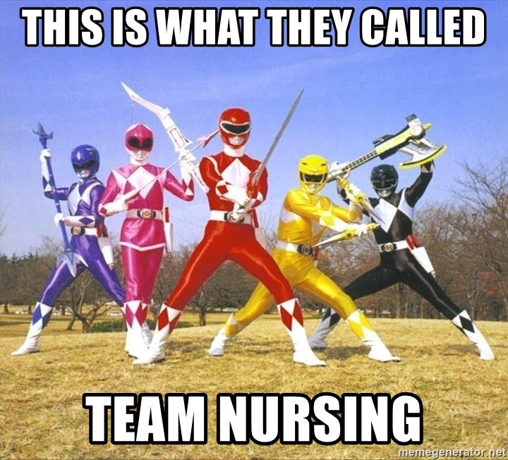 This Is What They Called Team Nursing Power Ranger Meme