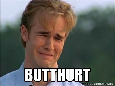 James Van Der Beek - butthurt