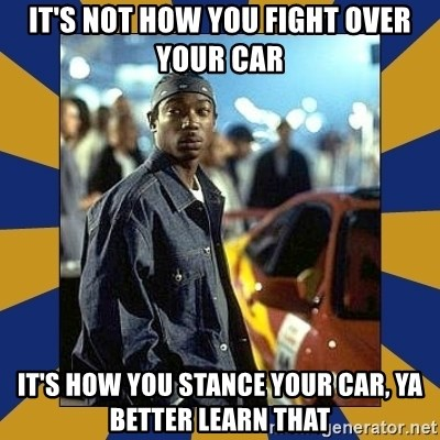 JaRule - It's not how you fight over your car it's how you stance your car, ya better learn that