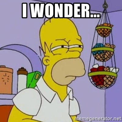 Simpsons' Homer - i wonder...