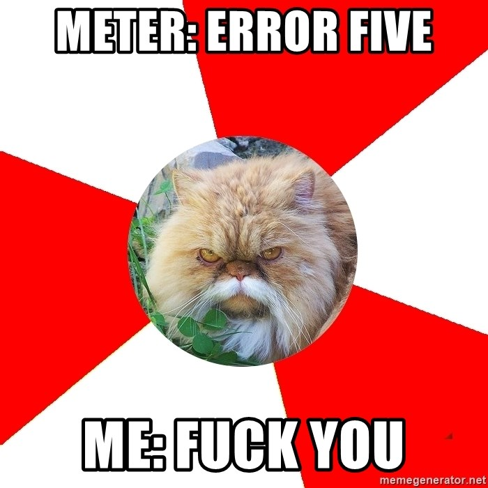 Diabetic Cat - Meter: Error Five Me: Fuck You