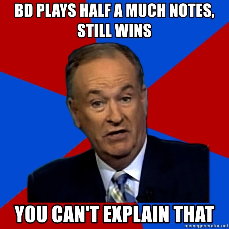 Bill O'Reilly Proves God - BD plays half a much notes, still wins you can't explain that