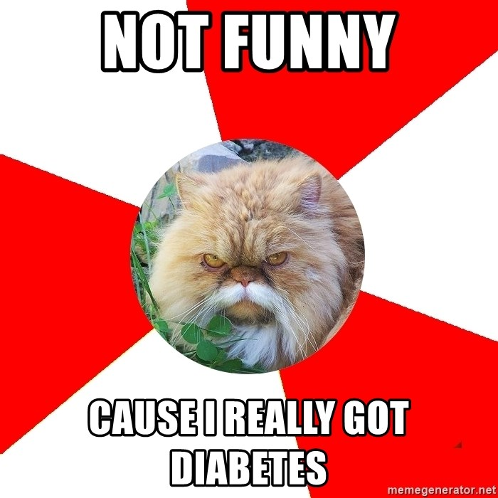 Diabetic Cat - Not funny Cause i really got diabetes