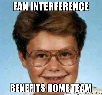 good luck larry hd - fan interference benefits home team