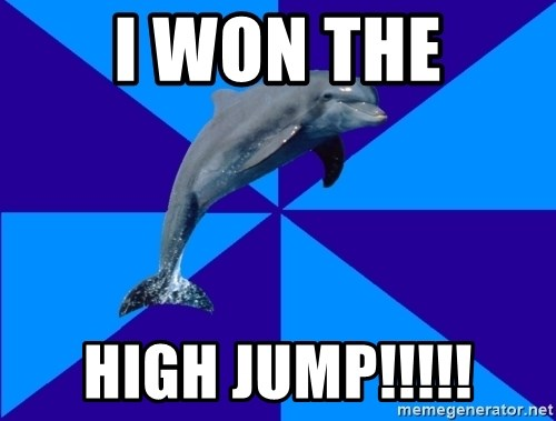 Drama Dolphin - I Won the high jump!!!!!