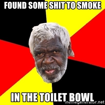 Abo - found some shit to smoke in the toilet bowl