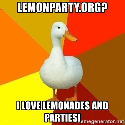 Technologically Impaired Duck - Lemonparty.org? i love lemonades and parties!