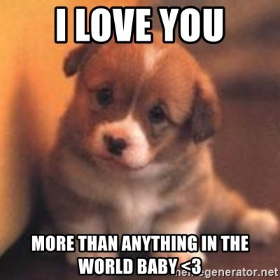 I Love You More Than Anything In The World Baby 3 Cute Puppy