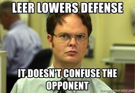 Dwight Schrute - Leer Lowers Defense It doesn't confuse the opponent