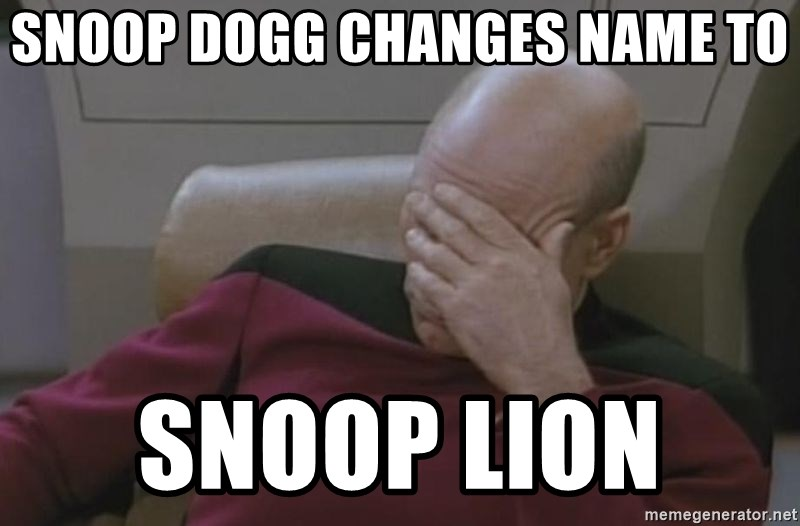 Jean Luc Picard - snoop dogg changes name to snoop lion