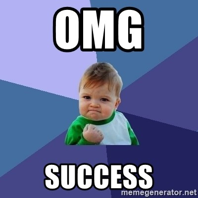 Success Kid - omg  success