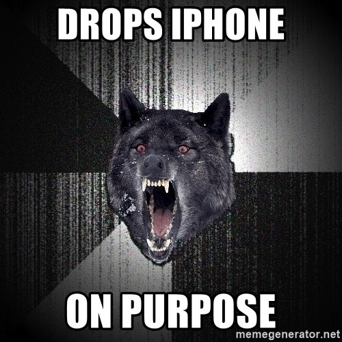 Insanity Wolf - Drops iphone on purpose