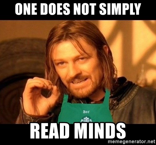 Barista Boromir - ONE DOES NOT SIMPLY READ MINDS