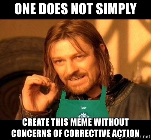 Barista Boromir - ONE DOES NOT SIMPLY CREATE THIS MEME WITHOUT CONCERNS OF CORRECTIVE ACTION