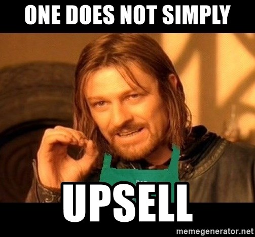 Barista Boromir - one does not simply upsell
