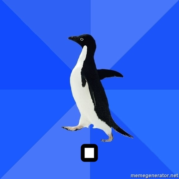 Socially Awkward Penguin - .