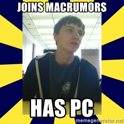 Backstabbing Billy - joins macrumors has pc