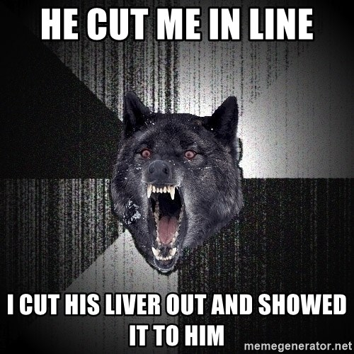 Insanity Wolf - He Cut me in line I Cut his liver out and showed it to him
