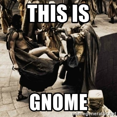 sparta kick - This is GNOME