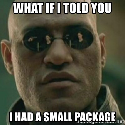 Nikko Morpheus - what if i told you i had a small package