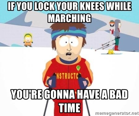 South Park Ski Teacher - IF you lock your knees while marching you're gonna have a bad time