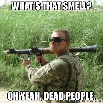 Awkward Army - what's that smell? oh yeah, dead people.