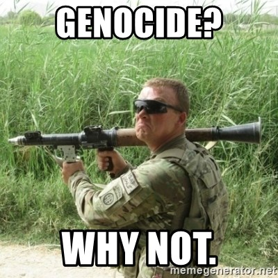 Awkward Army - genocide? Why not.
