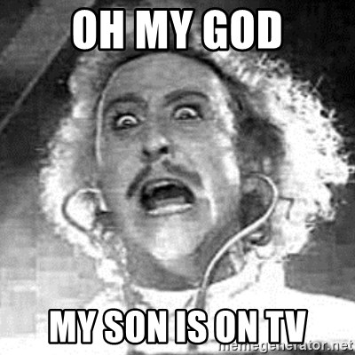 Frankenstein  - OH MY GOD MY SON IS ON TV