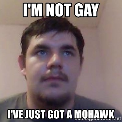 Ash the brit - i'M NOT GAY I'VE JUST GOT A MOHAWK